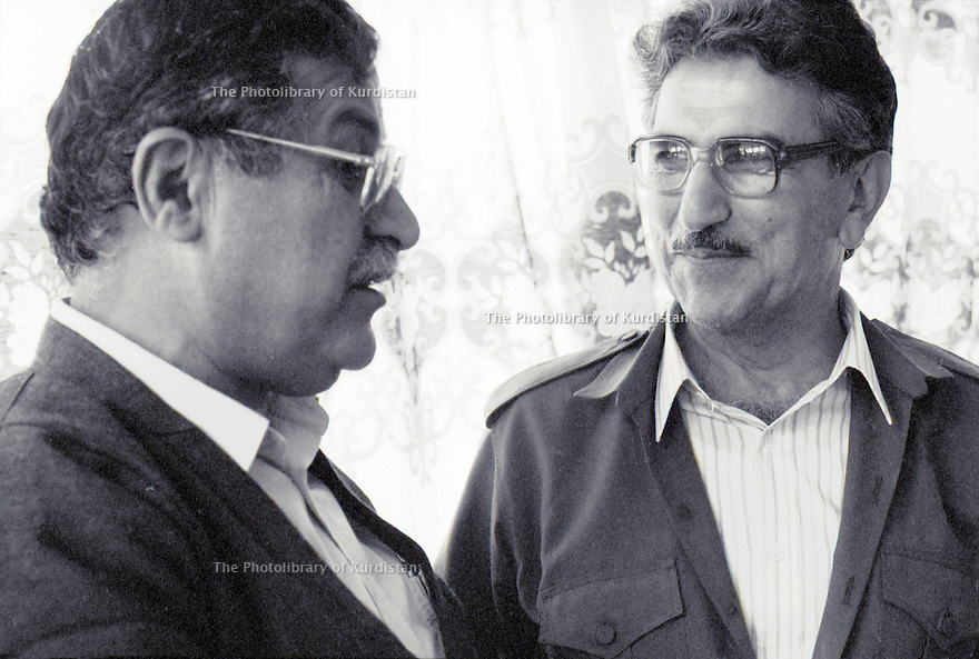 Irak 1991  Jalal Talabani et Sami Abdul Rahman   Iraq 1991  Jalal Talabani and Sami Abdul Rahman