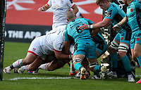 Sunday 25th October 2020   Ulster vs Dragons<br /> <br /> Eric O'Sullivan scores for Ulster against the Dragons during the Guinness PRO14 match between Ulster and Dragons at Kingspan Stadium in Belfast. Photo by John Dickson / Dicksondigital
