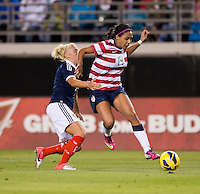 Sydney Leroux, Rhonda Jones.  The USWNT defeated Scotland, 4-1, during a friendly at EverBank Field in Jacksonville, Florida.