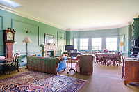 BNPS.co.uk (01202 558833)<br /> Savills/BNPS<br /> <br /> A luxury apartment in a breathtaking 17th century town house has emerged for sale for £750,000.<br /> <br /> The spectacular Charlton Park House in Malmesbury, Wilts, dates back to around 1607 when it was built for Earl of Suffolk and Berkshire.<br /> <br /> The farms and surrounding estates are still owned by the family over 400 years later but the building itself was converted into 19 flats in 1975.