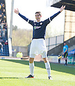 Brian Graham celebrates after he scores Raith's first goal.