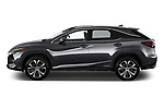 Car driver side profile view of a 2020 Lexus RX Hybrid 450h 5 Door SUV