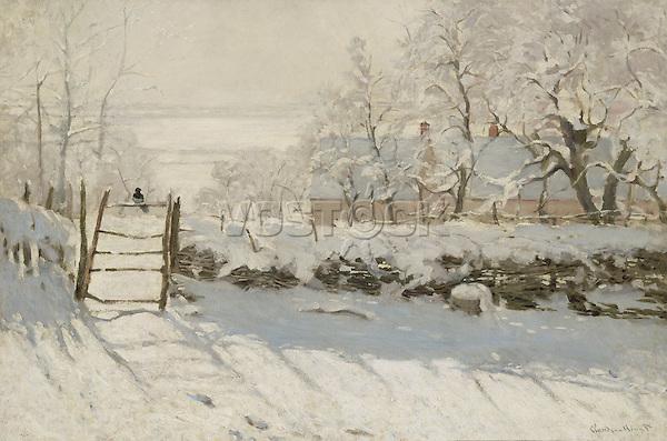 Claude Monet - The Magpie (1869). Paris, musée d'Orsay.
