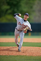 Detroit Tigers pitcher Mark Ecker (79) during a minor league Spring Training game against the Atlanta Braves on March 25, 2017 at the ESPN Wide World of Sports Complex in Orlando, Florida.  (Mike Janes/Four Seam Images)