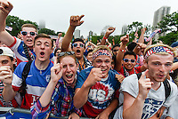Chicago, IL - June 30, 2015: USWNT vs Germany World Cup viewing party at Lincoln Park.