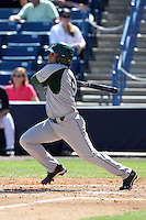USF Bulls outfielder Alex Mendez #9 at bat during a scrimmage against the New York Yankees at Steinbrenner Field on March 2, 2012 in Tampa, Florida.  New York defeated South Florida 11-0.  (Mike Janes/Four Seam Images)