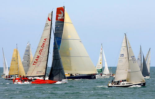 """""""When the world comes to Wicklow…"""" – classic Round Ireland Race start off the Wicklow pier head"""