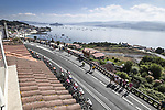 The peloton during Stage 20 of La Vuelta d'Espana 2021, running 202.2km from Sanxenxo to Mos, Spain. 4th September 2021.    <br /> Picture: Charly Lopez/Unipublic | Cyclefile<br /> <br /> All photos usage must carry mandatory copyright credit (© Cyclefile | Unipublic/Charly Lopez)
