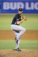 Hickory Crawdads relief pitcher Matt Smoral (30) in action against the Kannapolis Intimidators in game two of a double-header at Kannapolis Intimidators Stadium on May 19, 2017 in Kannapolis, North Carolina.  The Intimidators defeated the Crawdads 9-1.  (Brian Westerholt/Four Seam Images)