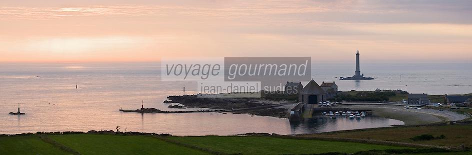 Europe/France/Normandie/Basse-Normandie/50/Manche/Presqu'île de la Hague/Goury: le port  dans la lumière du soir
