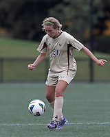 Boston College midfielder Kate McCarthy (21) passes the ball. Pepperdine University defeated Boston College,1-0, at Soldiers Field Soccer Stadium, on September 29, 2012.