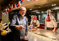 Melbourne, July 14, 2018 - Philippe Mouchel celebrates Bastille Day at Philippe Restaurant in Melbourne, Australia. Photo Sydney Low