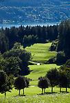 Oesterreich, Kaernten, oberhalb Millstatt: Golfklub Millstaettersee | Austria, Carinthia, above Lake Millstatt: Golf Club Lake Millstatt