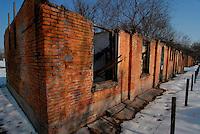 Fossoli / Modena / Italia.A circa sei chilometri da Carpi, in località Fossoli rimangono ancora le tracce visibili di quello che, nel corso del 1944, è diventato il Campo poliziesco e di transito (Polizei- und Durchgangslager) utilizzato dalle SS come anticamera dei Lager del Reich. I circa 5.000 prigionieri politici e razziali che passarono da Fossoli ebbero come tragiche destinazioni i campi di Auschwitz-Birkenau, Dachau, Buchenwald, Flossenburg..In Fossoli, six km from Carpi, are still visible traces of  the concentration camp (Polizei-und Durchgangslager) used by the Nazi during 1944 for the deportation of about 5,000 political and racial prisoners  Fossoli to Auschwitz-Birkenau, Dachau, Buchenwald, Flossenburg camps...Photo Livio Senigalliesi.