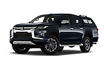 Stock pictures of low aggressive front three quarter view of 2020 Mitsubishi L200 Intense-Edition-One 4 Door Pick-up Low Aggressive