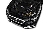 Car stock 2018 Subaru Levorg GTS Premium 5 Door Wagon engine high angle detail view