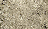 historical aerial photograph San Jose, California, 1948