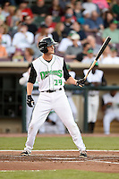 Dayton Dragons third baseman Brantley Bell (24) during a game against the South Bend Cubs on May 11, 2016 at Fifth Third Field in Dayton, Ohio.  South Bend defeated Dayton 2-0.  (Mike Janes/Four Seam Images)