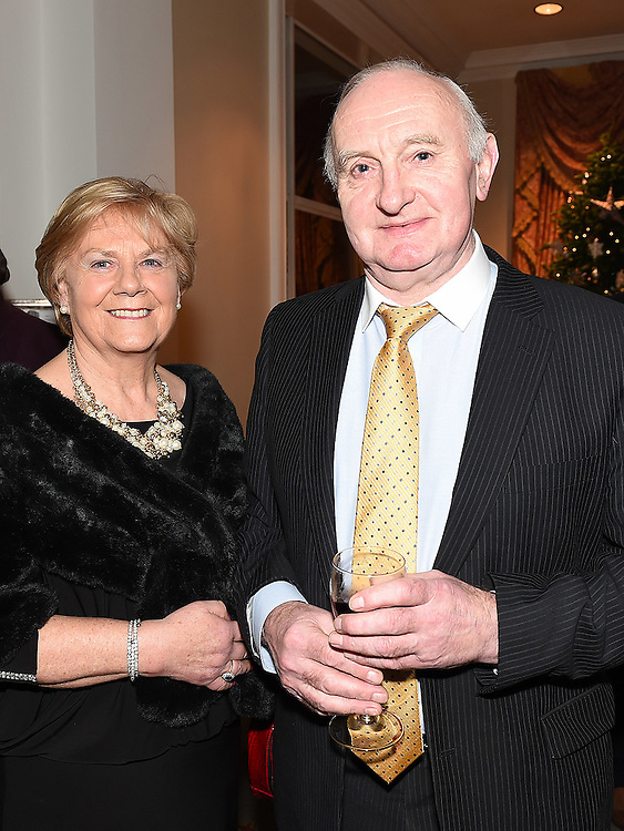 Kevin and Vera Commins winners of the 'Secret of Eternal Youth' Award at the Ardee Traders Awards night in the Nuremore hotel Carrickmacross. Photo:Colin Bell/pressphotos.ie