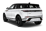Car pictures of rear three quarter view of 2019 Land Rover Range-Rover-Evoque Dynamic 5 Door SUV Angular Rear