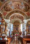 Oesterreich, Tirol, Soell (Tirol) im Brixental: Katholische Pfarrkirche Soell Hll. Peter und Paul, Barockkirche 1764 bis 1768 errichtet (Spaetbarock) | Austria, Tyrol, Soell (Tyrol) at Brixen Valley: baroque parish church St Peter and Paul