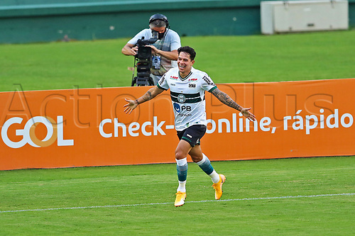 16th November 2020; Couto Pereira Stadium, Curitiba, Brazil; Brazilian Serie A, Coritiba versus Bahia; Giovanne Augusto of Coritiba celebrates his goal in the 3rd minute 1-0
