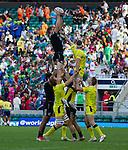 Scott Curry. The All Blacks Sevens beat Australia 24-10. London, England. Photo: Marc Weakley
