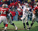 Dallas Cowboys Troy Aikman (8) during a game from his 1995 season. Troy Aikman played for 12 years, all with the Cowboys, was a 6-time Pro Bowler and was inducted to the Pro Football Hall of Fame in 2006.(SportPics)