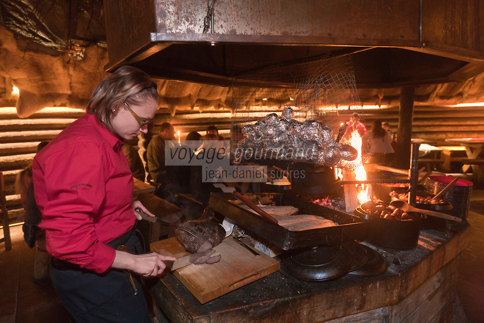 Europe/Finlande/Laponie/Levi: restaurant lapon Kammi de l'Hôtel Hullu Poro