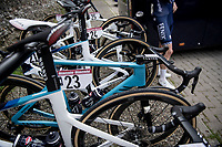 Mathieu Van der Poel's (NED/Alpecin-Fenix) bike pre-race<br /> <br /> 15th Strade Bianche 2021<br /> ME (1.UWT)<br /> 1 day race from Siena to Siena (ITA/184km)<br /> <br /> ©kramon