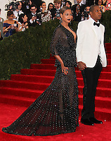 """NEW YORK CITY, NY, USA - MAY 05: Beyonce, Jay-Z at the """"Charles James: Beyond Fashion"""" Costume Institute Gala held at the Metropolitan Museum of Art on May 5, 2014 in New York City, New York, United States. (Photo by Xavier Collin/Celebrity Monitor)"""