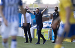 Kilmarnock v St Johnstone……15.08.20   Rugby Park  SPFL<br />Saints boss Callum Davidson appeals to the referee<br />Picture by Graeme Hart.<br />Copyright Perthshire Picture Agency<br />Tel: 01738 623350  Mobile: 07990 594431