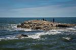 Madison Beach rocky point. East Wharf
