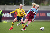 Beth Mead of Arsenal and Grace Fisk of West Ham during West Ham United Women vs Arsenal Women, Women's FA Cup Football at Rush Green Stadium on 26th January 2020