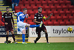 St Johnstone v Hearts…10.08.16..  McDiarmid Park…BetFred Cup<br />Brian Easton shoots for goal<br />Picture by Graeme Hart.<br />Copyright Perthshire Picture Agency<br />Tel: 01738 623350  Mobile: 07990 594431