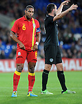 14th August 2013 - Cardiff - UK : Wales v Republic of Ireland - Vauxhall International Friendly at Cardiff City Stadium :  Wales Captain Ashley Williams.