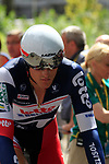 Francis De Greef (BEL) Lotto-Belisol waits to start the Prologue of the 99th edition of the Tour de France 2012, a 6.4km individual time trial starting in Parc d'Avroy, Liege, Belgium. 30th June 2012.<br /> (Photo by Eoin Clarke/NEWSFILE)