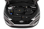Car stock 2019 Hyundai Tucson Value 5 Door SUV engine high angle detail view
