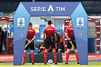 banner Serie A TIM<br /> prior to the Serie A football match between SSC Napoli and Atalanta BC at stadio San Paolo in Napoli (Italy), October 17th, 2020. <br /> Photo Cesare Purini / Insidefoto