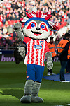 Indi, the Apache Indian Atletico de Madrid club mascot, greets prior to the La Liga 2017-18 match between Atletico de Madrid and UD Las Palmas at Wanda Metropolitano  on January 28 2018 in Madrid, Spain. Photo by Diego Souto / Power Sport Images