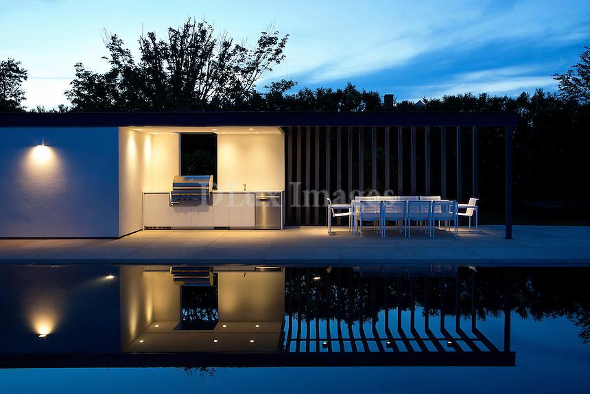 contemporary pool area