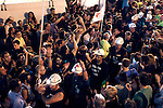 Spanish coal miners arrives at Madrid  on July 10, 2012 in Madrid, in protest at industry subsidy cuts that they say threaten their communities. Miners want to reverse the Spanish government's decision to slash subsidies to the coal pits on which many northern towns rely by nearly two thirds to 111 million euros this year ($137 million) from 301 million euros last year.(ALTERPHOTOS/Alconada)