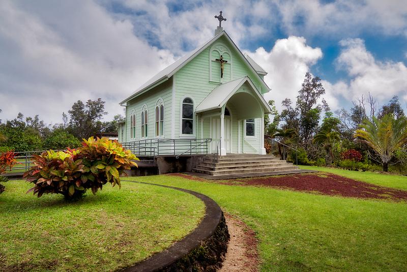 Star of the Sea Catholic Church. Near Pahoa, Hawaii