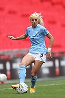 29th August 2020; Wembley Stadium, London, England; Community Shield Womens Final, Chelsea versus Manchester City; Chloe Kelly of Manchester City Women controls the pass