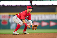 Worcester Red Sox shortstop Jeremy Rivera (53) during a game against the Rochester Red Wings on September 3, 2021 at Frontier Field in Rochester, New York.  (Mike Janes/Four Seam Images)
