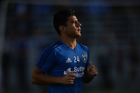 San Jose, CA - Monday July 10, 2017: Nick Lima prior to a U.S. Open Cup quarterfinal match between the San Jose Earthquakes and the Los Angeles Galaxy at Avaya Stadium.