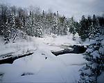 Upson River, Iron County, Wisconsin, January, 1994