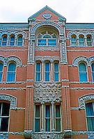 Austin: The Driskill Hotel, portion of facade.