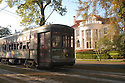 The St. Charles Streetcar line rolls pass New Orleans' finest mansions, Friday, March 26, 2005.<br />(Cheryl Gerber Photo)