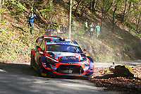 24th April 2021; Zagreb, Croatia; WRC Rally of Croatia, stages 9-16; Pierre Louis Loubet - Hyundai I20 WRC WRC